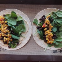 Black Bean & Corn Salsa Quesadillas